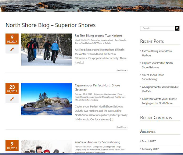superior shores blog writing